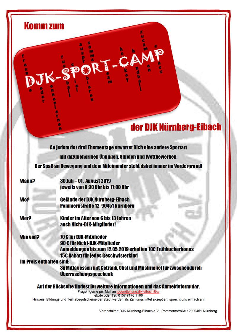 Sport Camp 2019 der DJK Eibach @ DJK Nürnberg-Eibach